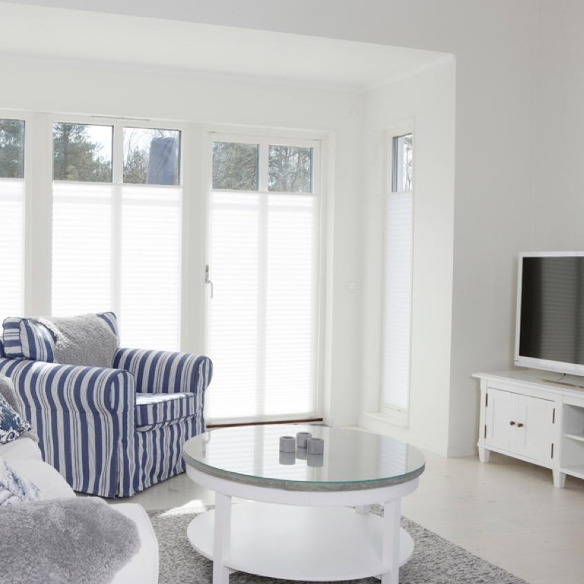 Rum med terassfönster